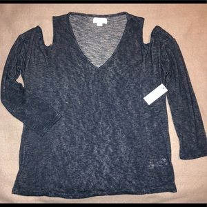 Velvet by Graham & Spencer Top MEDIUM Blue NWT